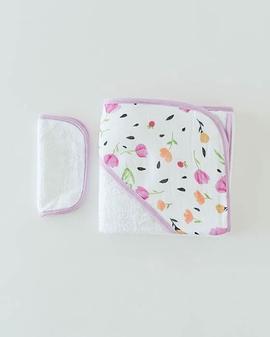 Serviette de bain à capuchon et débarbouillette - Berry and Bloom - Little Unicorn