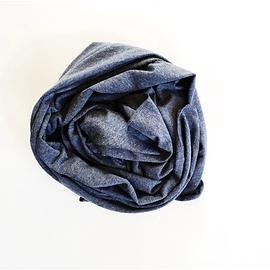 Couverture en bambou - Zak & Zoé - Bleu jeans